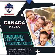 Want to settle in Canada?  Get the Canada PR visa with Hallmark Immigration consultants.  #hallmark #hallmarkimmigration #immigrationconsultants #immigration #canada #canadavisa #canadaprvisa #visa #visaconsultants #settleincanada #familyimmigration #familyvisa #canadapr Immigration Help, Immigration Agent, Immigration Canada, Business Visa, International Adoption, Reunification, Migrant Worker, Permanent Residence, Free Education