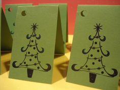 CHRISTMAS TREE Gift Tags & String Wrap Party by TheScrappyKat, $2.00