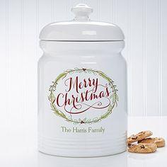 personalized cookie jar ceramic cookie jar family monogram