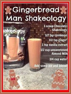 Gingerbread Man Shakeology Recipe  http://Www.beachbodycoach.com/lindsaykoenig http://www.facebook.com/lindsay.koenig.12