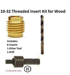 E-Z Lok #10-32 x 3//8 Lg 1 Each Brass Press-Fit Insert for Plastic
