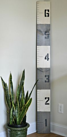 LOVE! Great idea for marking family measurements instead of the wall! Nautical Growth Chart Ruler Gray Antiqued FREE SHIPPING by MomentsSaved: