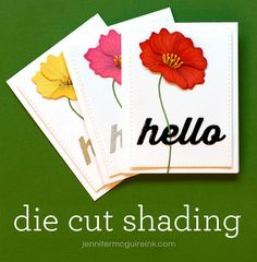 Die Cut Shading Video by Jennifer McGuire Ink