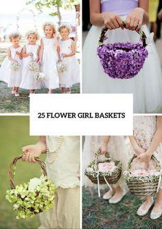 25 Lovely Flower Girl Basket Ideas To Try - crazyforus Spring Wedding, Diy Wedding, Wedding Flowers, Wedding Ideas, Wedding Things, Wedding Bells, Wedding Reception, Flower Girl Basket, Flower Girls