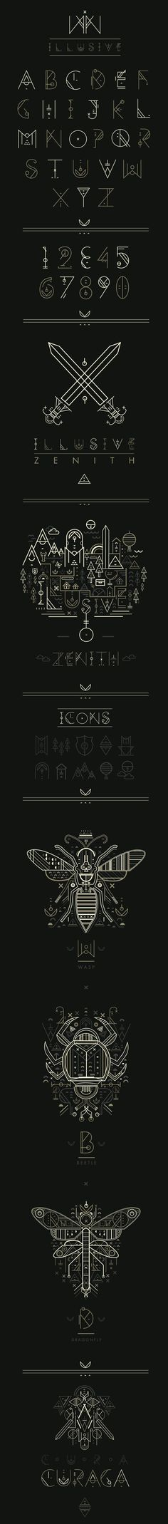 I suspect Petros Afshar to have spent a lot of time playing RPGs, and I'm doing the victory dance of Final Fantasy for this great typographic work.