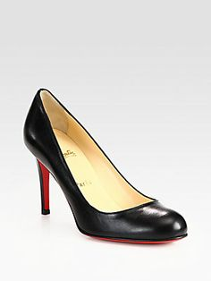 Christian Louboutin Simple 85 Leather Pumps. The most perfect high end pump ever. Perfect heel height and rounded toe so completely chic and comfortable.