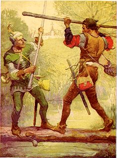 File:Robin Hood and Little John, by Louis Rhead 1912.png