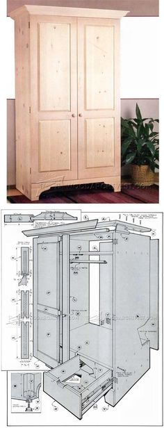 Build Armoire - Furniture Plans and Projects | WoodArchivist.com #woodworkingplans