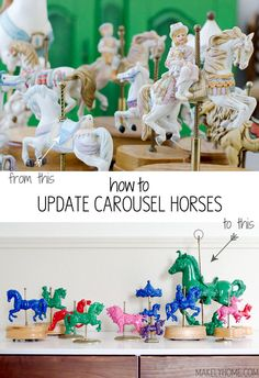 How to give thrift store carousel horses a modern look via MakelyHome.com
