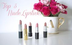 TOP 5 - Nude Lipsticks Nude Lipstick, Lipsticks, Beauty, Tops, Beleza, Lipstick, Shell Tops, Cosmetology
