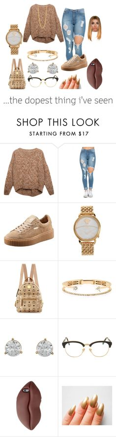 """""""School"""" by xtiairax ❤ liked on Polyvore featuring Relaxfeel, Puma, Versace, MCM, Delfina Delettrez, Cachet, Sunday Somewhere, STELLA McCARTNEY, Kenneth Cole and women's clothing"""