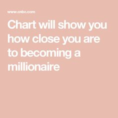 Chart will show you how close you are to becoming a millionaire