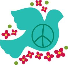 Bird+of+peace+dove+vinyl+wall+decal+with+flowers