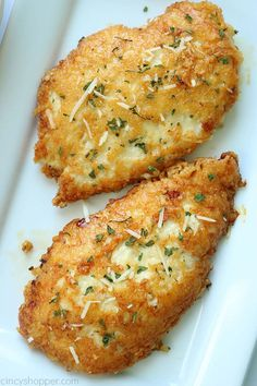 Parmesan Crusted Chicken -We use pounded thin chicken breasts, coat in a delicious Parmesan coating, and then fried to make them crispy. Add this chicken idea to your dinner this week. dinner chicken This Parmesan Crusted Chicken Recipe is so Good! Chicken Thights Recipes, Chicken Parmesan Recipes, Healthy Chicken Recipes, Cooking Recipes, Recipe Chicken, Chicken Salad, Cooking Tips, Keto Recipes, Thin Chicken Cutlet Recipes