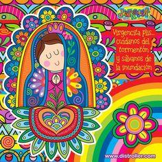 """Virgencita please mandame un novio bueno y lindo. Por Distroller, marca creada por Amparo """"Amparin"""" Serrano."""
