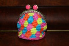 Handmade by Alpenkatzen Crochet Bags, Bunt, Coin Purse, Wallet, Purses, Handmade, Crafts, Diy, Bag Patterns