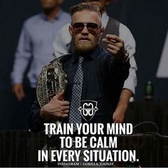 Million dollar advice. A calm mind can weather any storm