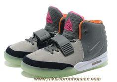 cheaper 59278 4642c Nouveau Gray Orange Nike Air Yeezy II Hommes Chaussures Nike Lebron, Lebron  11, Lebron