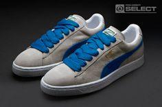 Puma Suede Classic Eco Mens Shoes - Limestone Grey-Puma Royal