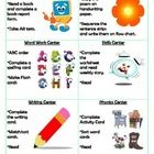 6 guided reading center cards.  ...