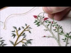 Hand Embroidery Designs   Puff bullion knot stitch   Stitch and Flower-110 - YouTube
