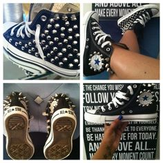 KIDS: ALL STAR STUDDED Chuck Taylor (BLACK)| Visit DD86Shoes.Com ...These also come in ADULT sizes