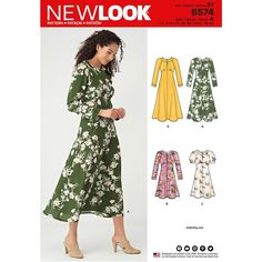 1f3e4d37 Misses Dresses New Look Sewing Pattern 6574. Size 6-18. New Look Patterns