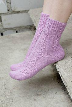 Hand Knit women Socks merino wool lilac by SockClub on Etsy