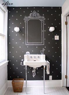 Krijtverf muur toilet/badkamer?!