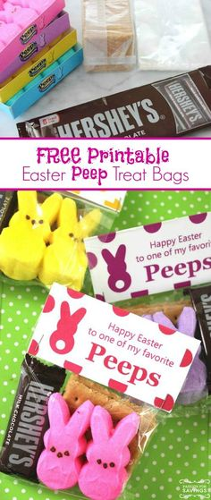 FREE Printable Easter Peeps Bag Toppers!