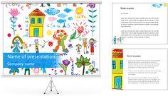 Bonito childrenâ € ™ s Pictures Modelos de apresentações PowerPoint