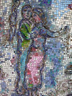 """Marc Chagall mosaic outdoor ART in Chicago! at the Chicago """"L"""" train"""
