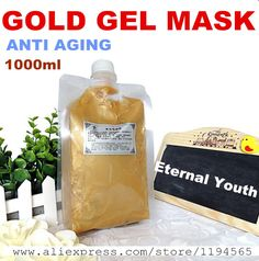 68.00$  Buy here - http://alivqo.worldwells.pw/go.php?t=32336711117 - 1KG 24k Gold Facial Mask Cream Gel Whitening Moisturizing Anti-wrinkle Anti Aging Hospital Equipment 1000g Beauty Salon Products 68.00$