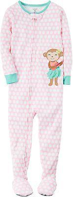 Sleepwear 147215: Carters Baby Girls 1-Piece Monkey Pajamas 12 Month -> BUY IT NOW ONLY: $36.84 on eBay!