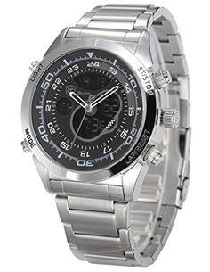 Bild Shark Herren Armbanduhr Quarzuhr Silber…