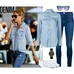 Denim On Denim: How To Wear A Denim Shirt And Skinny Jeans