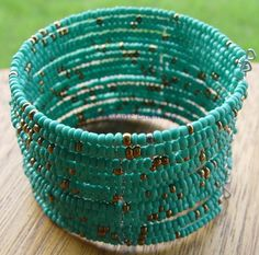 BOHEMIAN SEED BEADS BRACELET - TURQUOISE Wicca Witch Pagan Goth