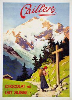 Plakat für Cailler Milchschokolade. 1930.