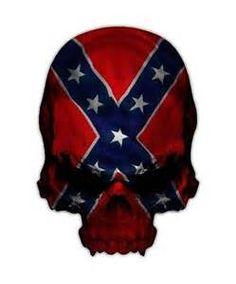 confederate flag skull