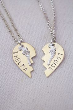 Thelma and Louise Friendship Necklaces