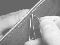 手縫い コバ ステッチ