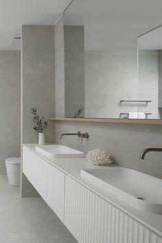 Bathroom Renos, Laundry In Bathroom, Master Bathroom, Coastal Bathrooms, Modern Bathroom, Contemporary Bathrooms, Inspiration Design, Bathroom Inspiration, Inset Basin