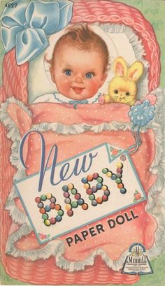 "Vintage Paper Dolls...""The New Baby"" paper doll."