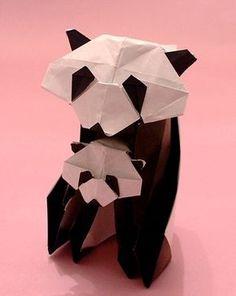Marque Page Panda En Origami Bookmark