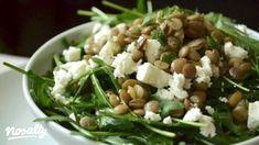 Rukkolás lencsesaláta fetasajttal | Nosalty Proof Of The Pudding, Lentil Salad, Salad Dressing Recipes, Meatless Monday, Lentils, Tofu, Green Beans, Feta, Potato Salad