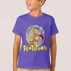 The Flintstones and Rubbles Family Graphic. Producto disponible en tienda Zazzle. Vestuario, moda. Product available in Zazzle store. Fashion wardrobe. Regalos, Gifts. #camiseta #tshirt