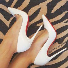 Beautiful rainy day to sit at home nice and dry in these! Happy #shoesday #shoesdaytuesday #christianlouboutin #louboutinworld #sokate #sokate120 #sokateneige #whitesokate #whiteshoes #stilettocouturebella #shoefie #shoequeen #shoegasm #shoegame #shoeporn #sotd #shoesoftheday #shoestagram