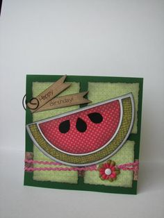 watermelon card    letteringdelights.com