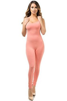 New Trending Bodysuits: Staand Apparel Womens Sexy Spaghetti Strap Catsuit Unitard Tank Jumpsuit - One Piece Bodysuit Rompers Playsuit Party (Small, Coral). Staand Apparel Womens Sexy Spaghetti Strap Catsuit Unitard Tank Jumpsuit – One Piece Bodysuit Rompers Playsuit Party (Small, Coral)  Special Offer: $10.39  333 Reviews Spaghetti strap ankle length jumpsuit95% Cotton 5% SpandexSpaghetti strapAnkle lengthThis product is made in our...