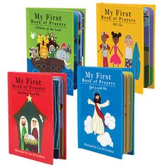 """""""A Child's Book of Prayers"""" Board Books (Set of Childrens Prayer, Religious Books, Dollar Tree Store, Prayer Board, Color Activities, Kids Christmas, Sunday School, Stocking Stuffers, Coloring Books"""